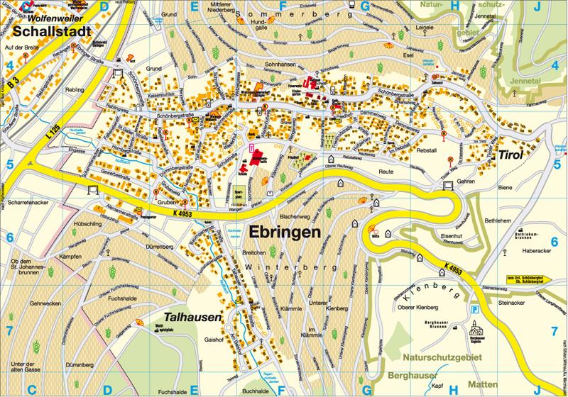 Ortsplan der Gemeinde Ebringen