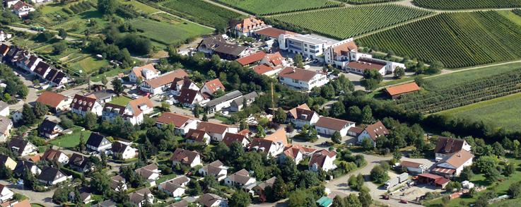 Luftbild des Ebringer Gewerbegebietes